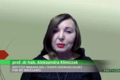 Terapia COVID-19 komórkami macierzystymi? Rozmowa z prof. dr hab. Aleksandrą Klimczak z IITD PAN