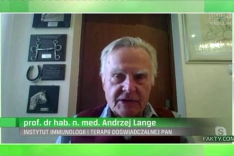 Jak długo utrzymuje się odporność na COVID po zaszczepieniu się szczepionką mRNA? Wywiad prof. Andrzeja Lange z IITD PAN