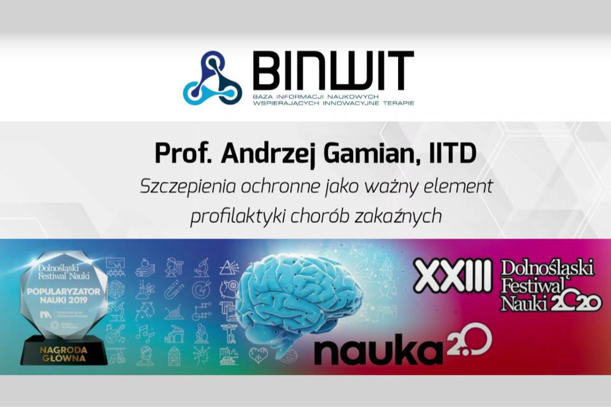 Szczepienia ochronne – ważny element profilaktyki chorób zakaźnych. Prof. Andrzej Gamian z IITD PAN na DFN 2020