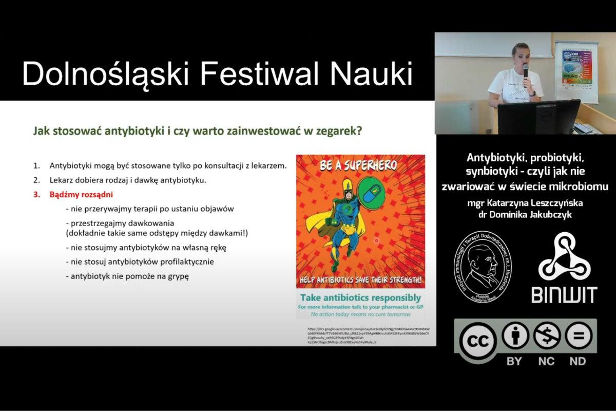 Antybiotyki, probiotyki, synbiotyki… Dr Dominika Jakubczyk i mgr Katarzyna Leszczyńska z IITD na DFN 2020