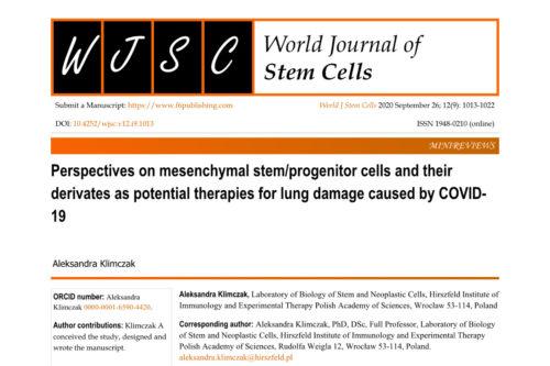 Perspektywy zastosowania mezenchymalnych komórek macierzystych i ich sekretomu jako potencjalnej terapii wspomagającej regenerację płuc uszkodzonych COVID-19