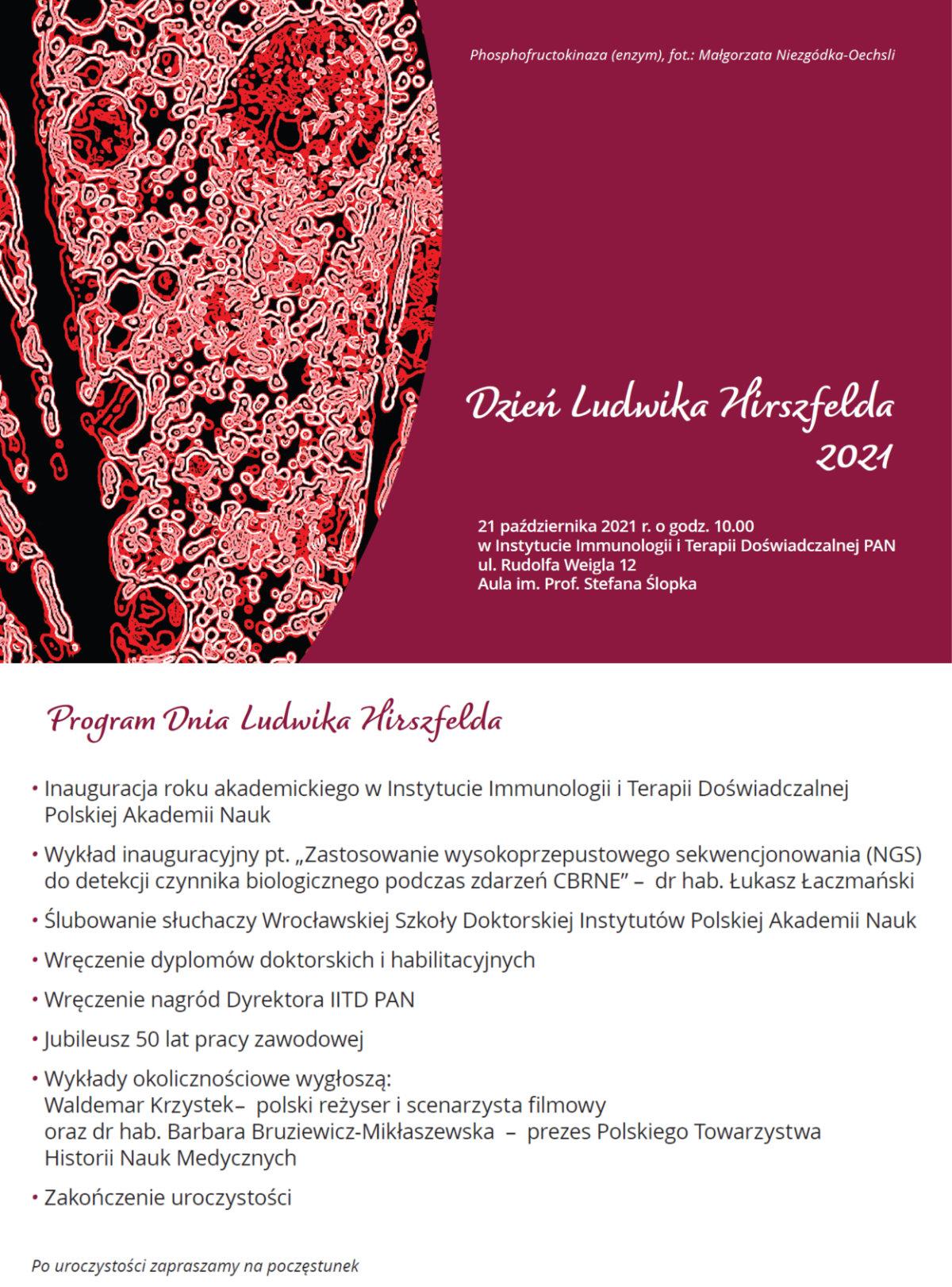 Ósme obchody Dnia Ludwika Hirszfelda - 21 października 2021 - program