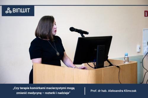 Czy terapie komórkami macierzystymi mogą zmienić medycynę? Wykład prof. dr hab. Aleksandry Klimczak na Konferencji BINWIT